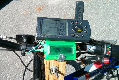 """Watts-Up"" meter is just used as a voltmeter. The venerable Garmin GPS V is also powered off the 24v system."